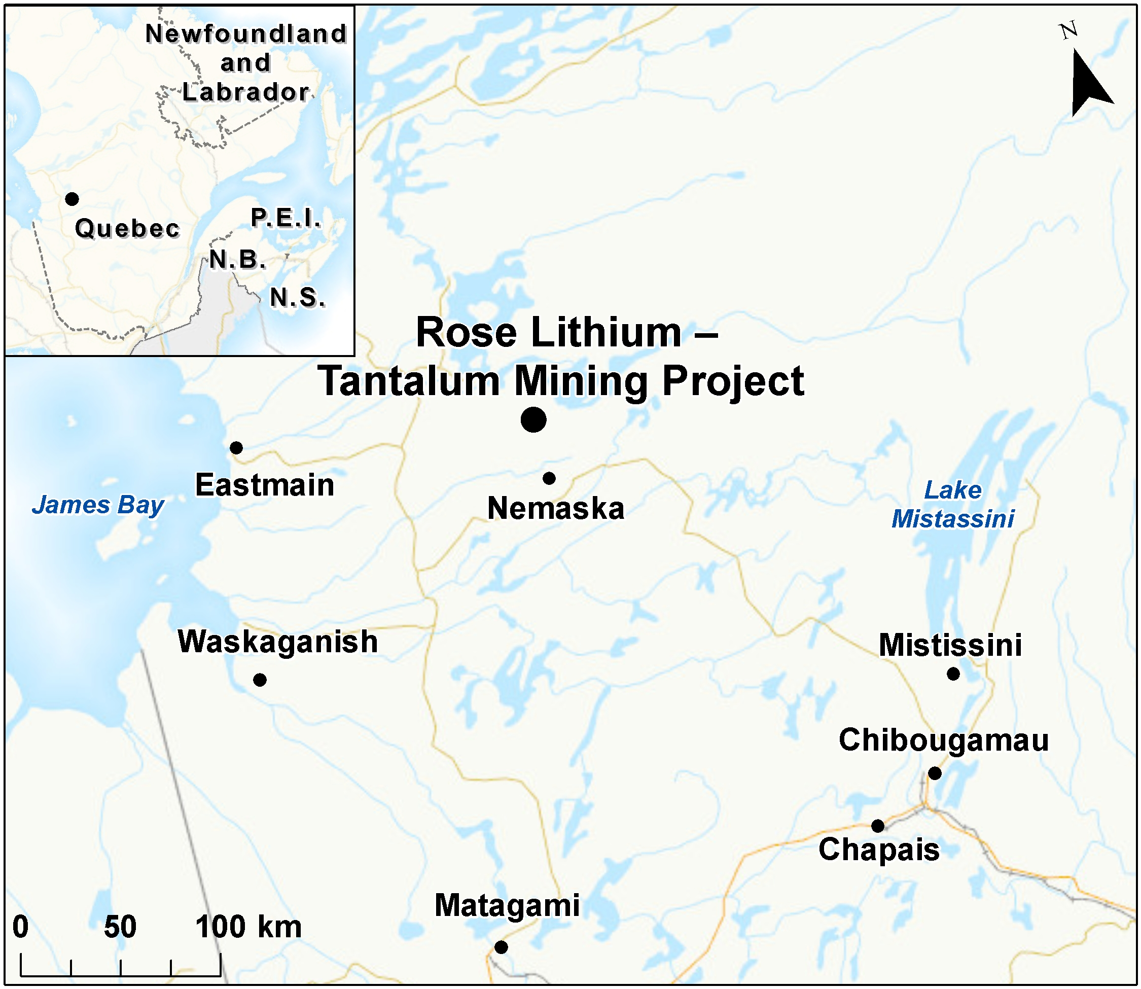Map depicting the location of the project, as described in the current document.